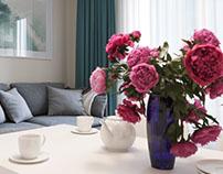 Дизайн интерьера для Showroom жилого комплекса SmartHou