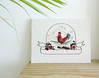 2017 정유년 embroidery illustration