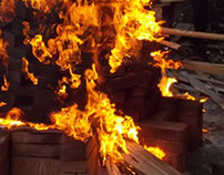 Wood fired kiln / Horno a leña.