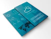 weather app IOS design concept