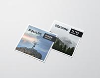 Square Flyer Mockup / 3D Visualization