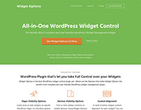 Landing Page - WordPress Widget Options Plugin