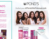 Happy Skin X Ponds Leaflet design