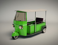 Low Poly Auto Rickshaw