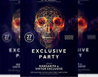 Exclusive Party - Premium A5 Flyer Template