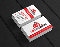 Business card design for insulation services