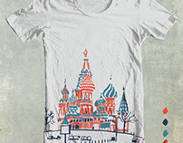 T-shirt print for GAP 'A cake of Moscow'