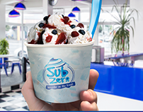 Sub Zero ice cream shop identity