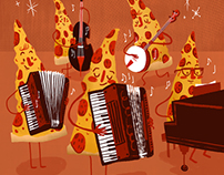 Polka Playing Pepperoni Pizza Band