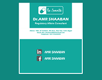 business card for dr amr shaaban