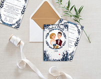 Wedding invitations - Customized illustration