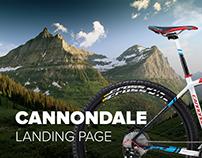 Cannondale bike Landing Page