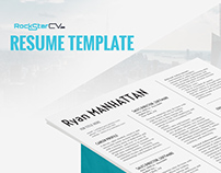 Resume Template Manhattan