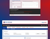 Global IME Bank Online Banking Screen Designs