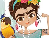 Frida Kahlo. Ilustración infantil