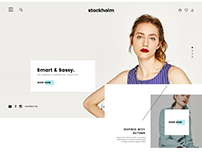 Stockholm Fashion Homepage Redesign