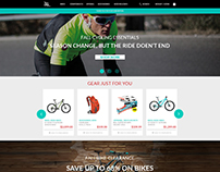 bike website mockup done for client looong time ago...