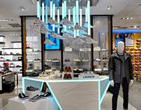 Lacoste shoe display NYC