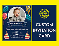 Custom Invitation Card Designs