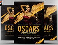 Oscars Fancy Dress Party Flyer Template V4