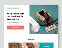 Landing Page Design and UI/UX for madeforgood