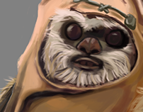 StarWars Illustrations - Ewok