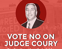 No On Coury Social Media Ad Campaign