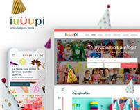 UX/UI Articulos para fiesta!