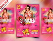 Summer Event Party Flyer Design PSD