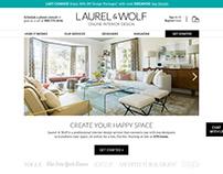 Laurel & Wolf Rebrand Website Concept