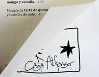 Restaurante Casa Alfonso  Carta Menú