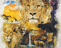 The Circle of Life Surrealism African Wildlife Art