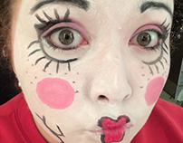 Doll face makeup