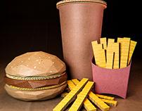 Cardboard hamburger