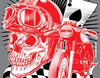 Ace of Race, Cafe Racer T-Shirt Design