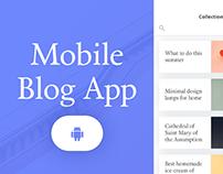 Mobile Blog App
