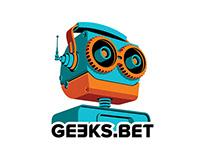Retro Robot Logo Concept