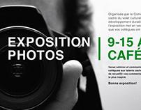 Affiches exposition interne des photos