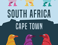 Cape Town, South Africa Travel Poster