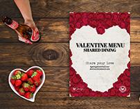 Valentine Menu - Scharrels & Schuim