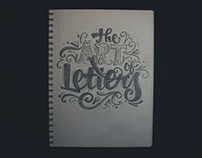 Lettering sketches exhibition