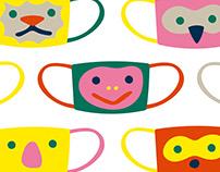 Animals mask pattern