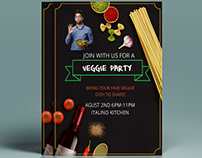 Food Menu party Flyer