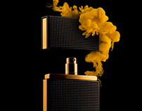 Perfume Bottle With Splash
