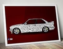 BMW e30 M3 - low poly