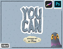 YOU CAN - sticker set for my store