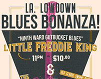LA. Lowdown Blues Bonanza | Gig Poster