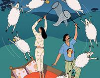 Chasing the dream, illustration for Finnair