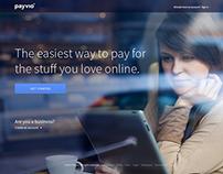 Payvio Homepage + Dashboard UI Explorations