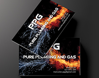 Business Card Design for Pure Plumbing and Gas